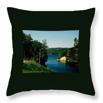 Brookville Lake Brookville Indiana Throw Pillow
