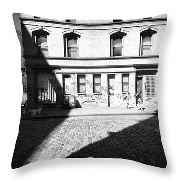 Throw Pillow featuring the photograph Broome Street Nyc by Dave Beckerman
