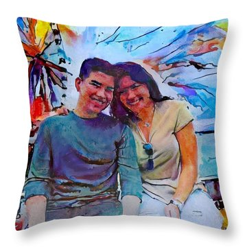 Brother And Sister Love Throw Pillow