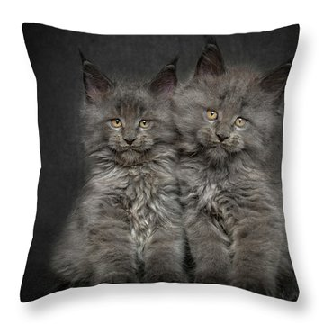 Brother And Sister  Throw Pillow