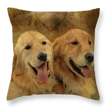 Brotherly Love Throw Pillow
