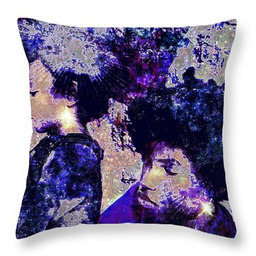 Brothers Blue Throw Pillow