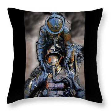 Brothers II Throw Pillow by Susan McMenamin