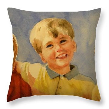 Brothers Throw Pillow by Marilyn Jacobson