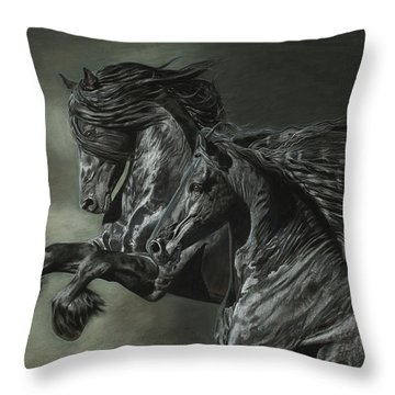 Brothers On The Wind Throw Pillow