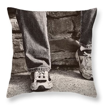 Brothers Throw Pillow by Tom Mc Nemar