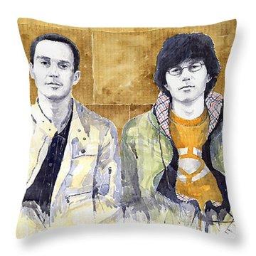 Brothers  Throw Pillow by Yuriy  Shevchuk