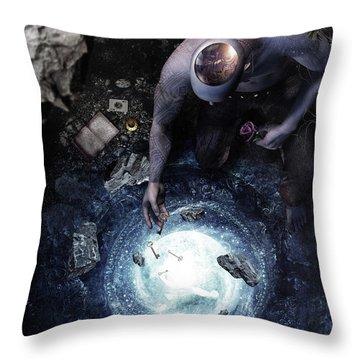Brought To Light Throw Pillow by Cameron Gray