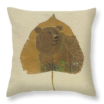 Brow Bear #2 Throw Pillow