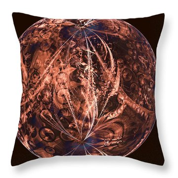Brown Artificial Planet Throw Pillow