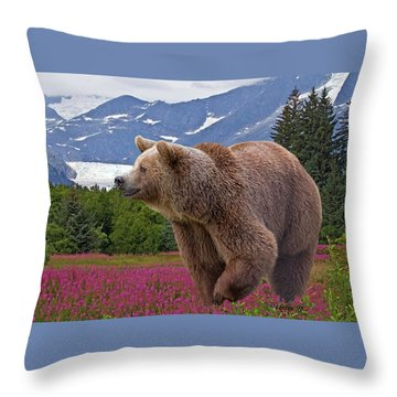 Brown Bear 2 Throw Pillow
