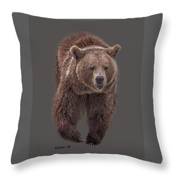 Brown Bear 8   Throw Pillow