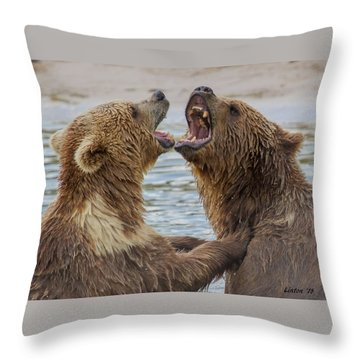 Brown Bears4 Throw Pillow