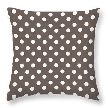 Brown Choco Polka Dots Throw Pillow
