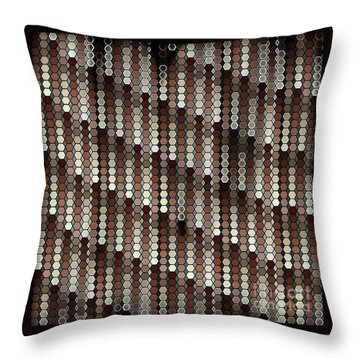 Brown Dot Throw Pillow