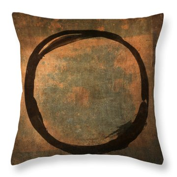 Brown Enso Throw Pillow