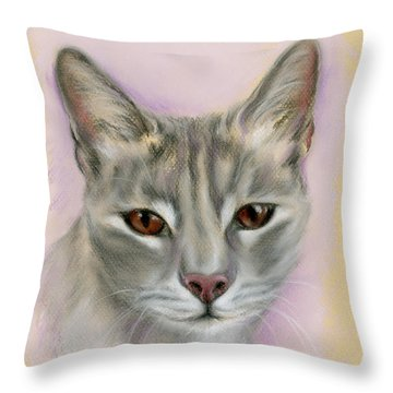 Brown Eyed Girl Throw Pillow by MM Anderson