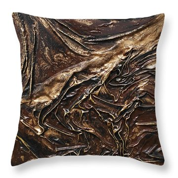 Brown Lace Throw Pillow