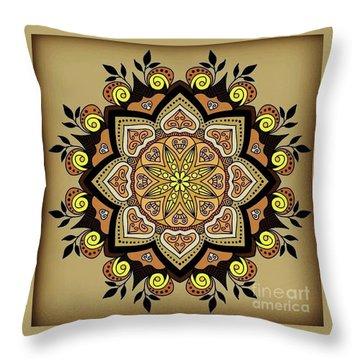 Brown Opal Throw Pillow