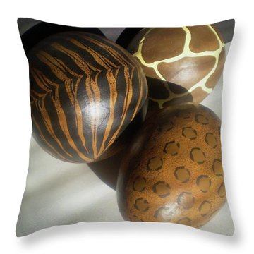 Brown Patterned Decor In Sunlight Throw Pillow