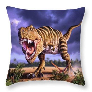 Brown Rex Throw Pillow