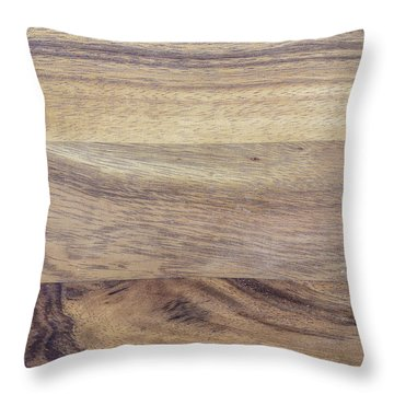 Brown Rubber Wooden Tray Handmade In Asia Throw Pillow