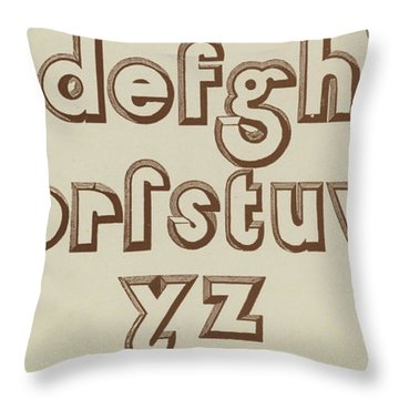 Brown Small Relief Font Throw Pillow