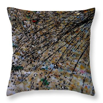 Brown Splatter Throw Pillow