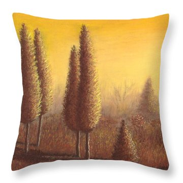 Brown Trees 01 Throw Pillow