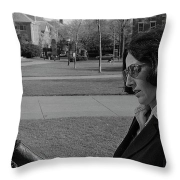 Brown University Student And His Mother, 1975 Throw Pillow
