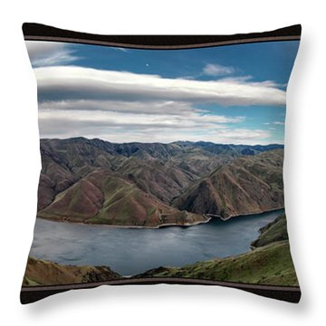 Brownlee Triptych Throw Pillow by Leland D Howard