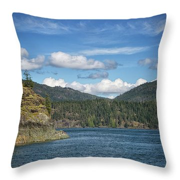 Browns Bay Throw Pillow by Randy Hall