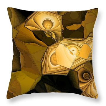 Browns Throw Pillow by Ron Bissett