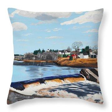 Brownville Village Dam Throw Pillow