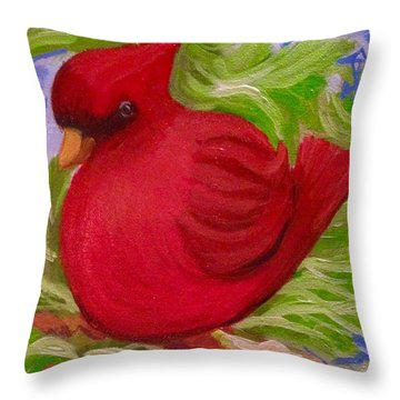 Brrr Bird Throw Pillow