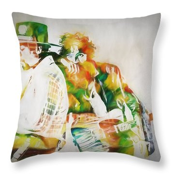 Bruce And The Big Man Throw Pillow by Dan Sproul