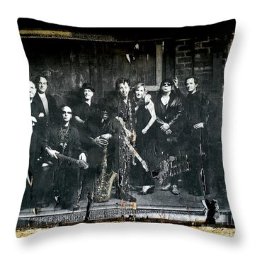 Bruce And The E Street Band Throw Pillow