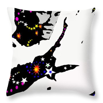 Throw Pillow featuring the drawing Bruce Lee Moving His Hands by Robert Margetts
