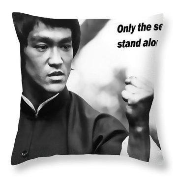 Bruce Lee Throw Pillows