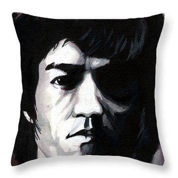 Bruce Lee Portrait Throw Pillow