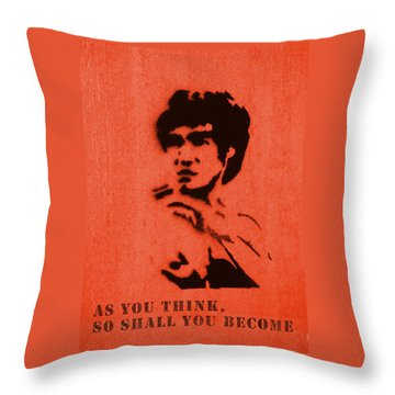 Bruce Lee - So Shall You Become Throw Pillow by Richard Reeve