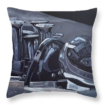 Throw Pillow featuring the painting Bruce Mclaren Canam by Richard Le Page