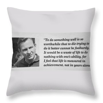 Bruce Mclaren Throw Pillow