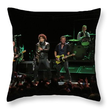 Bruce Springsteen And The E Street Band Throw Pillow by Melinda Saminski
