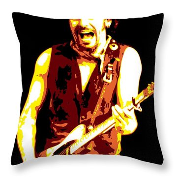 Bruce Springsteen Throw Pillow