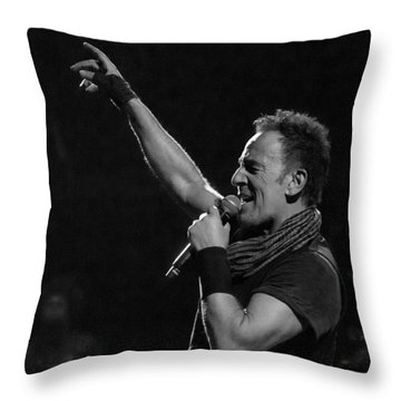 Bruce Springsteen In Cleveland Throw Pillow