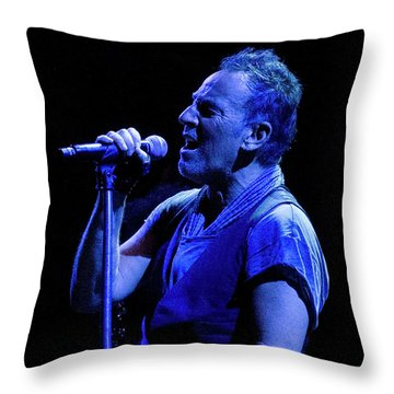 Bruce Springsteen-penn State 4-18-16 Throw Pillow