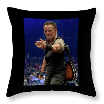 Bruce Springsteen. Pittsburgh, Sept 11, 2016 Throw Pillow