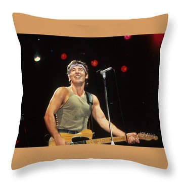 Bruce Springsteen Throw Pillow by Rich Fuscia