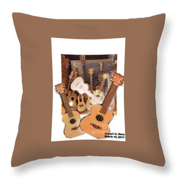 Bruce's Ukuleles Throw Pillow
